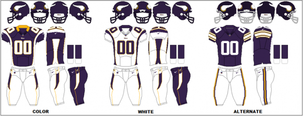 Minnesota Vikings - Uniformes