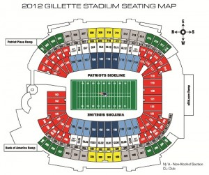 Gillett Stadium Seating Map