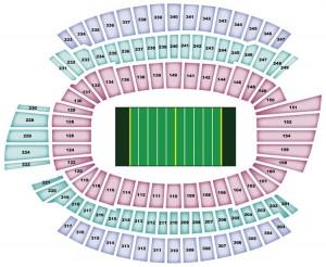 Paul Brown Stadium Seating Map