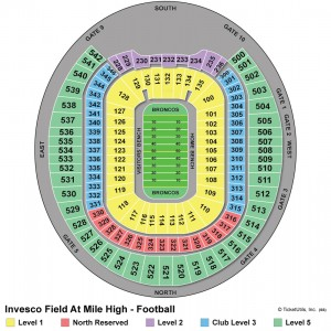 Sports Authority Field at Mile High Seating Map