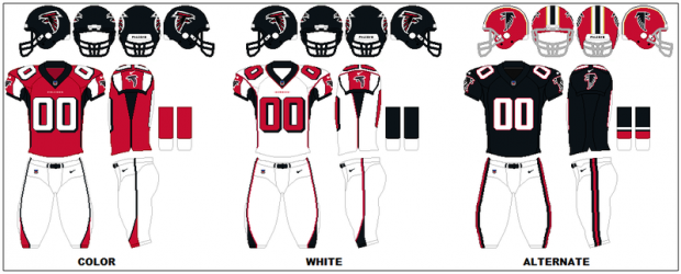 Atlanta Falcons - Uniformes