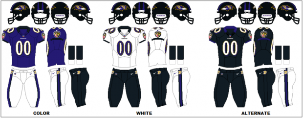 Baltimore Ravens - Uniformes