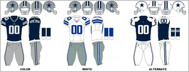 Dallas Cowboys - Uniformes