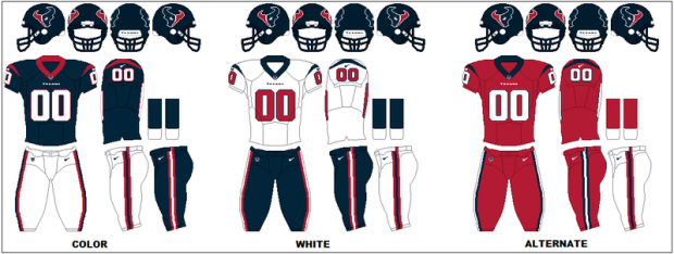 Houston Texans - Uniformes