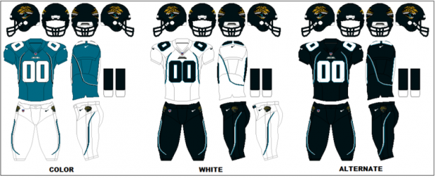 Jacksonville Jaguars - Uniformes