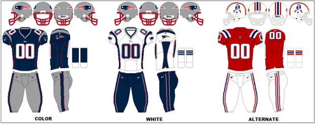 New Englad Patriots - Uniformes