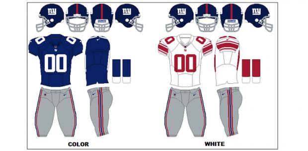 New York Giants - Uniformes