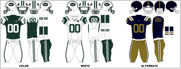 New York Jets - Uniformes