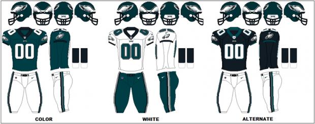 Philadelphia Eagles - Uniformes