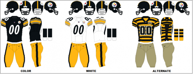 Pittsburgh Steelers - Uniformes