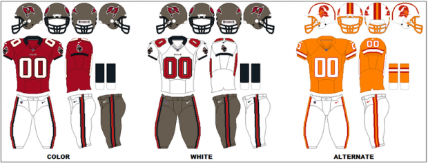 Tampa Bay Buccaneers - Uniformes