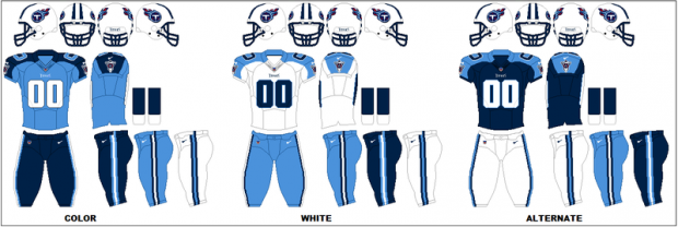 Tennessee Titans - Uniformes