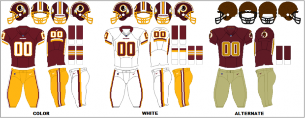 Washington Redskins - Uniformes
