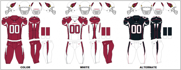 Arizona Cardinals - Uniformes