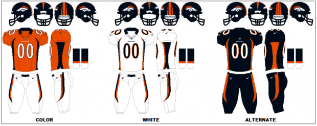 Denver Broncos - Uniformes
