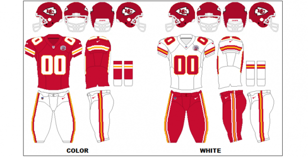 Kansas City Chiefs - Uniformes
