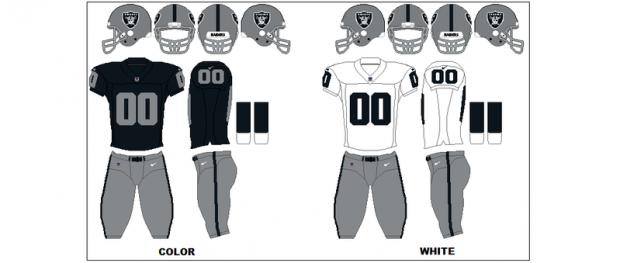 Oakland Raiders - Uniformes