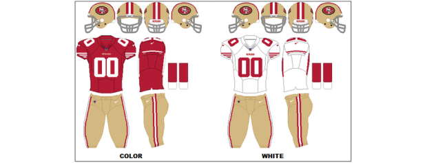 San Francisco 49ers - Uniformes