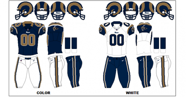St. Louis Rams - Uniformes